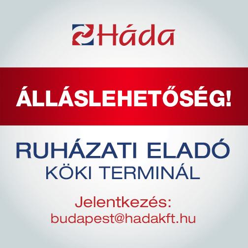 97053e342 Ruházati eladó (Budapest, Köki Terminál) | HÁDA – Stílus Divat Minőség